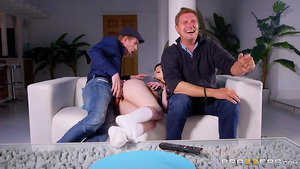 Danny fucks his buddy's sexy young daughter Luna Rival right behind his back!