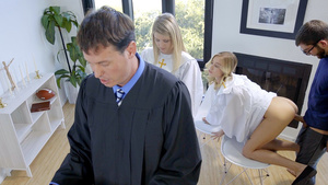 Haley Reed and her stepbrother Logan fucking behind choir dad back!