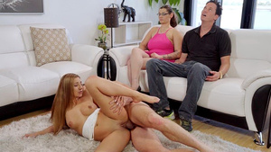 Stepbrother fuck stepsister Moka Mora while her mom and dad hypnotized!