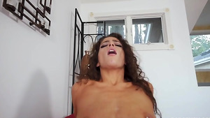 Step dad fuck daughter in her tiny shaved cunt in mobile porn tube!