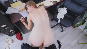 New HOT girl Ashley Lane fucked doggystyle in office!