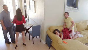 Stepsister sex with brother - Gina Valentina fucked near parents!