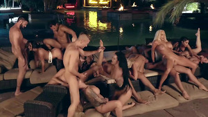 The horniest girls groupsex party in Brazzers House 4