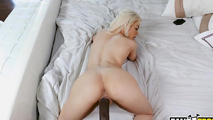 Teen stepdaughter Elsa Jean getting her pussy stretched by black stepfather!