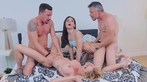 Young couple Abella Danger and Jessy gets foursome sex with neighbors Brandi Love and Mick.