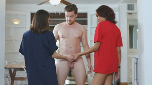 Horny girls Liv Wild and London Tisdale are seducing their stepbrother!