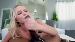 Black stepfather fucks white stepdaughter Natalia Queen and cum in her mouth!