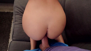 Mom said stepson Logan Long to get off his dick from her stepdaughter's pussy!