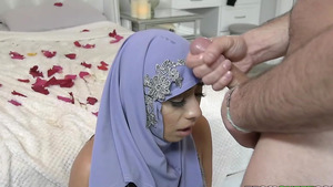 Young wife in Hijab Violet Myers fuck and cum on face!