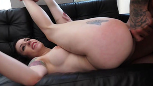 Teen Angel Emily and Anna de Ville Double vaginal and anal gape.
